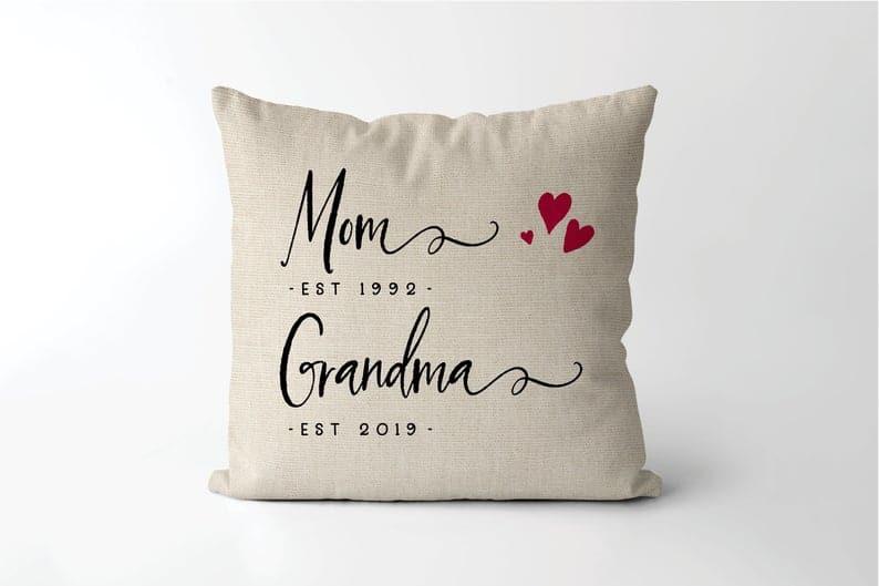 new grandma gift ideas: grandma established pillow