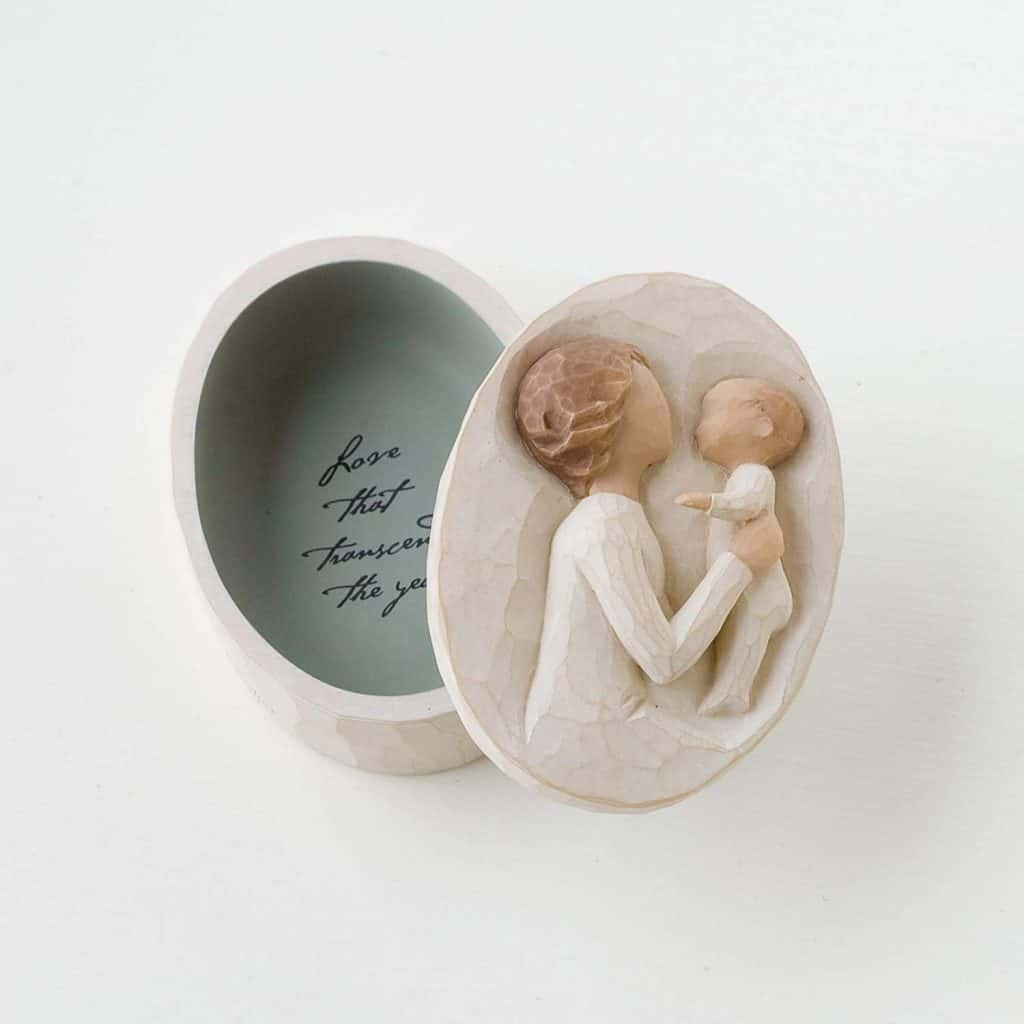 gift ideas for grandmas: grandmother sculpted keepsake box from willow tree