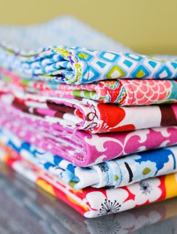 colorful handmade cloth napkins