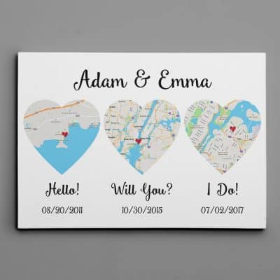 Hello Will You I Do Standard Style With Names Canvas Print