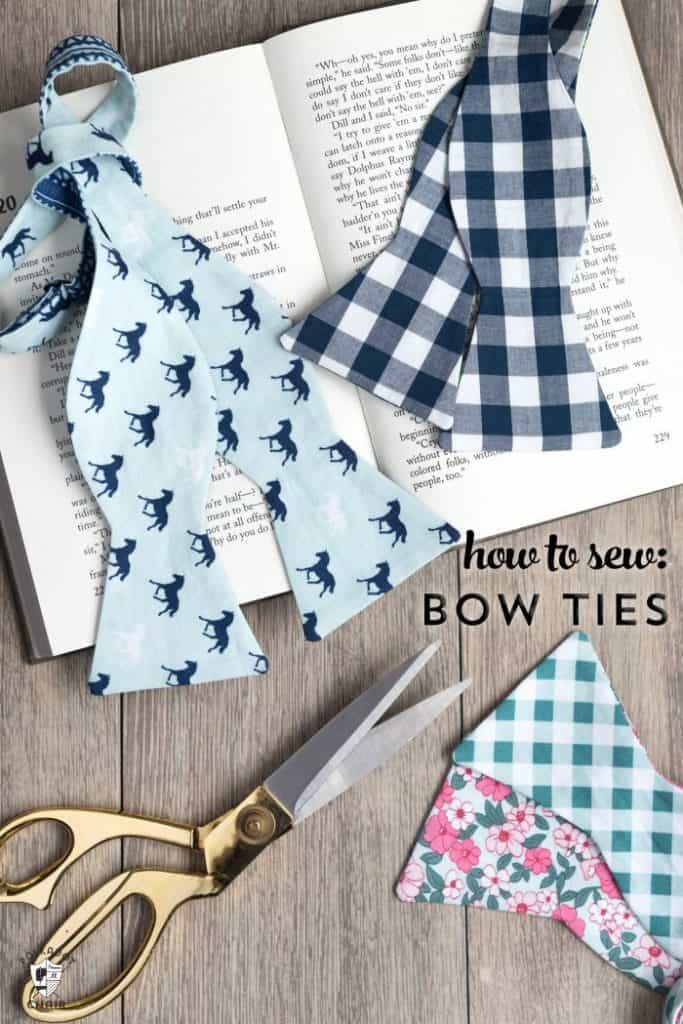 homemade fathers day gifts ideas: hand-sewn bow tie