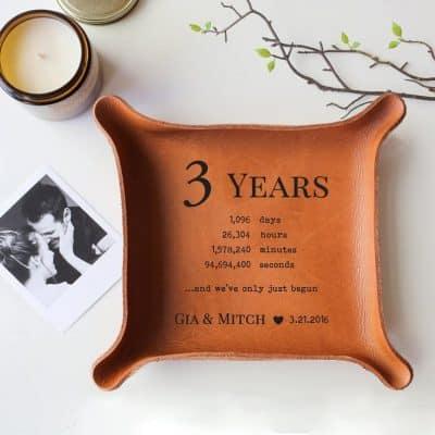 jewerly leather tray