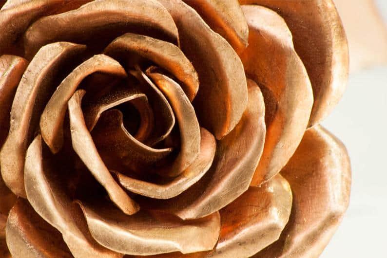 Copper Rose Anniversary Gift