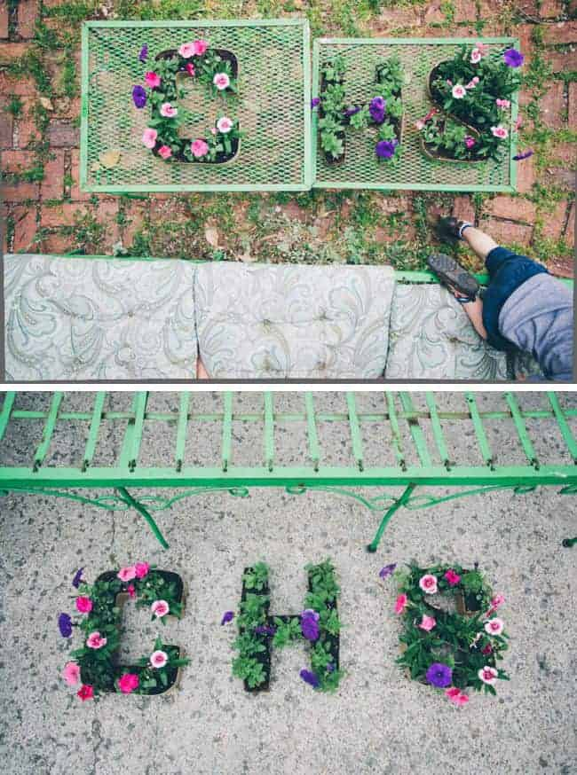 mothers day crafts for grandma: initial flower planters