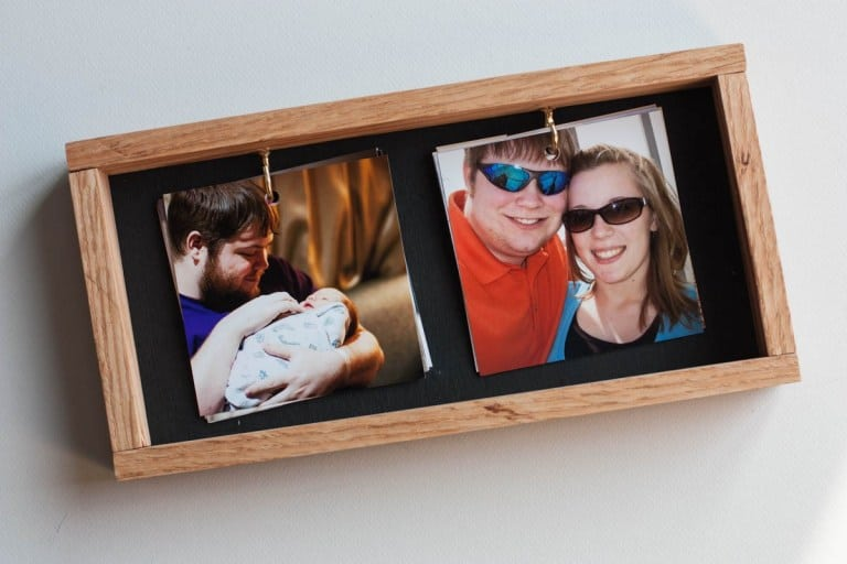 father's day gifts diy: instagram photo frame