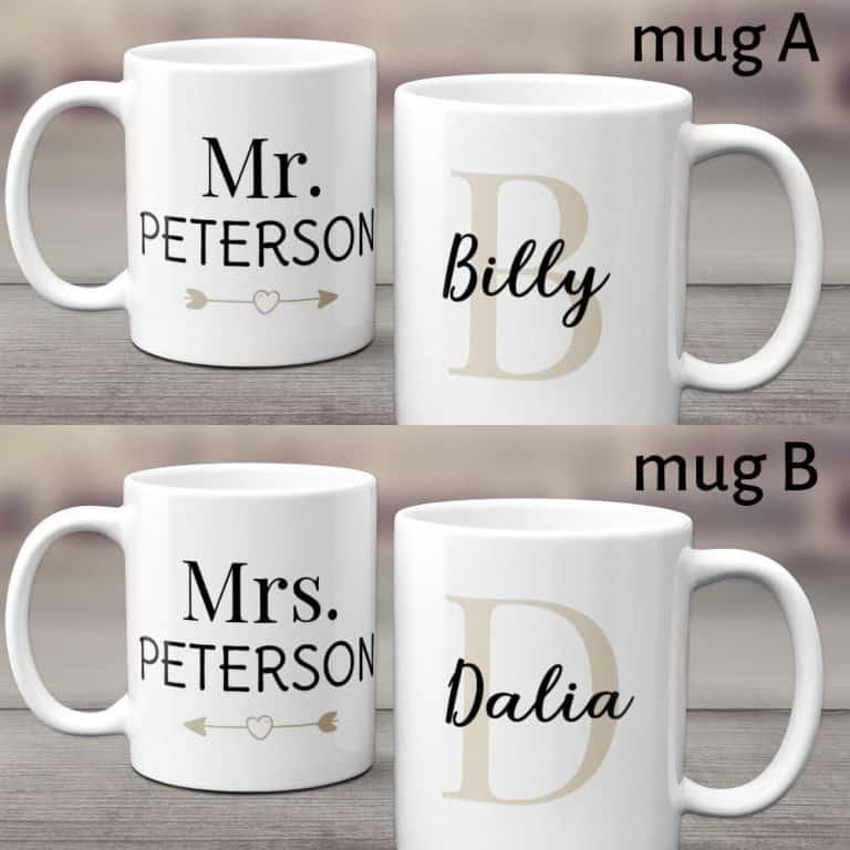 Mr And Mrs Custom Couple Mug