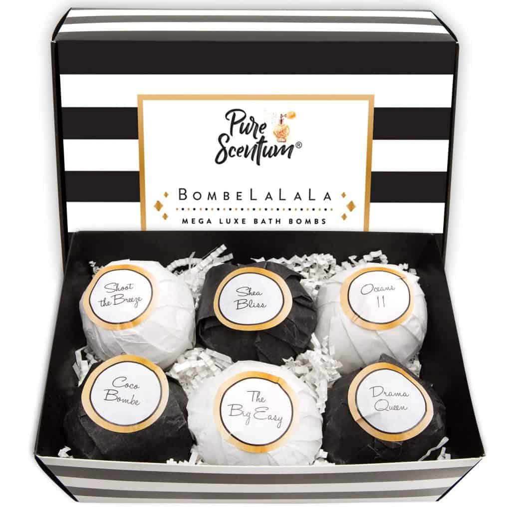 luxury organic bath bomb gift set