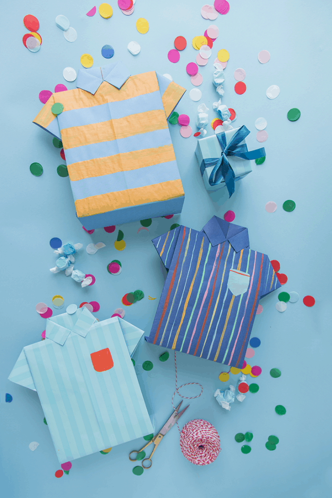 last minute diy fathers day gift idae: origami shirt gift bags