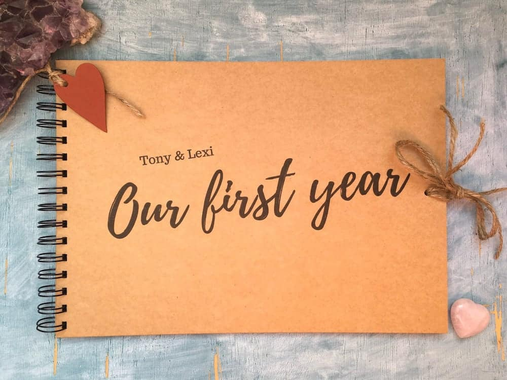 our first year scrapbook for boyfriend