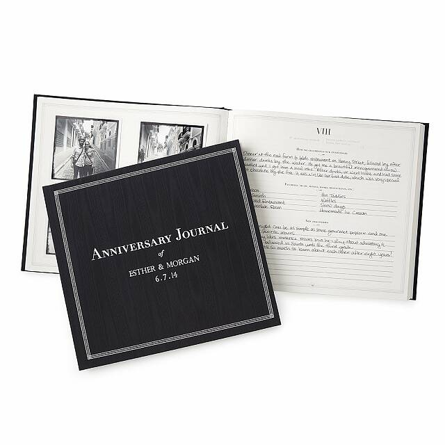 gifts for anniversary for him: personalized anniversary journal