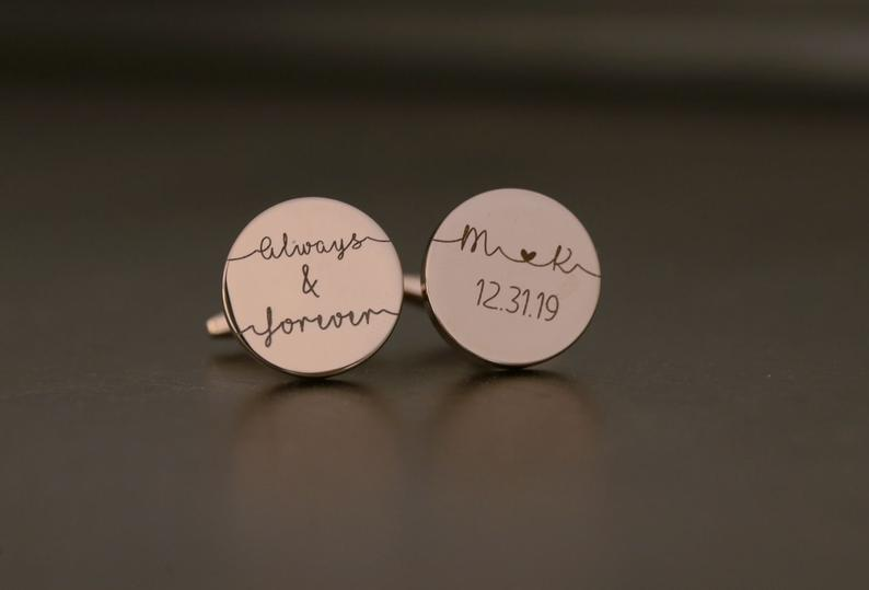anniversary gift for him: personalized cufflinks