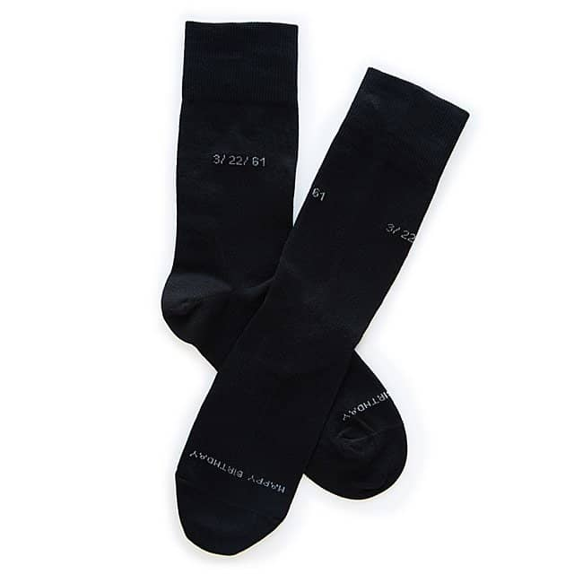 personalized anniversary gifts for him: personalized socks