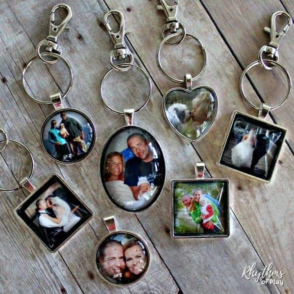 father's day craft ideas: photo keychain