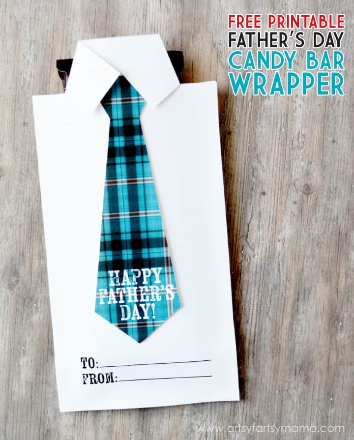 diy father's day gift: printable candy bar wrapper