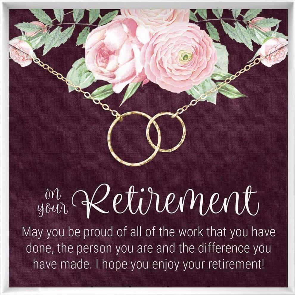 retirement jewelry pendant for female teachers