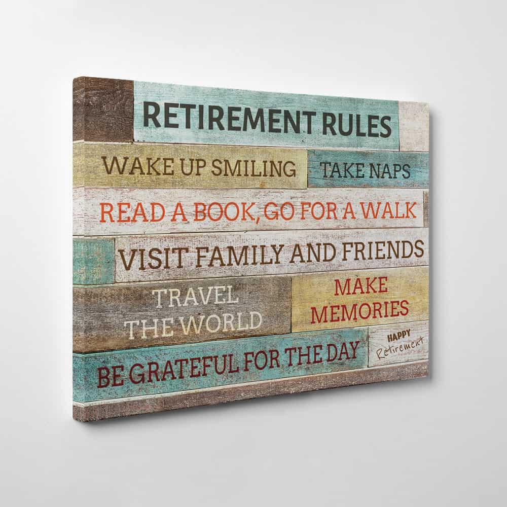 retirement rules print gift for retiring teachers