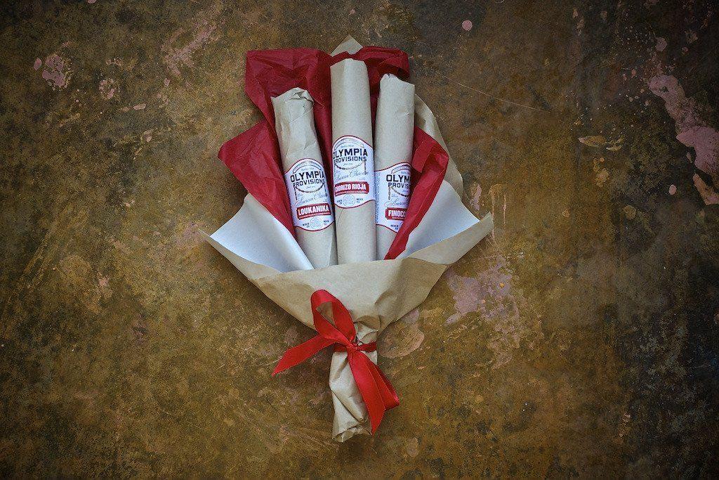anniversary ideas for him: salami bouquet
