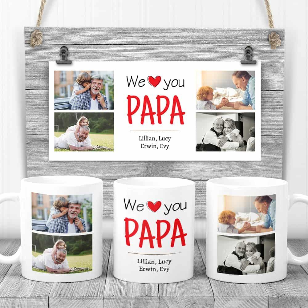 we love papa custom photo mug fathers day gifts