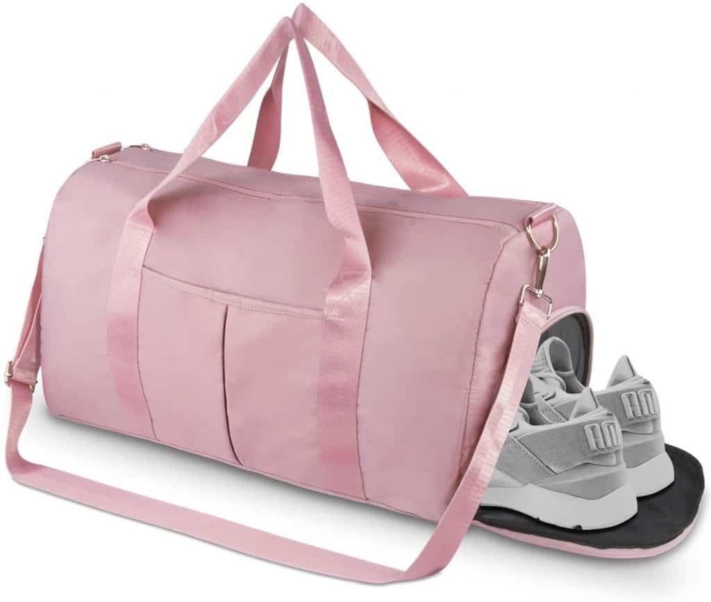 pink gym bag sport bag
