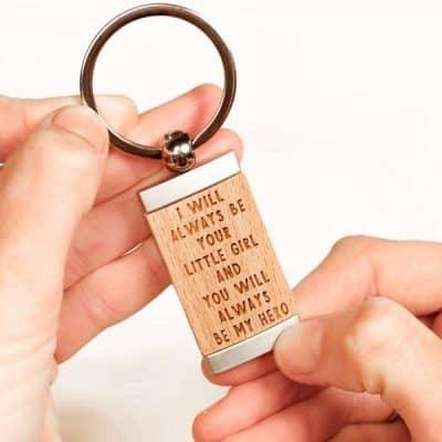 You Are My Hero Keychain