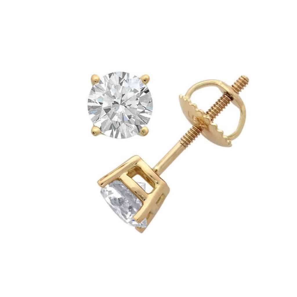 Diamond Stud Earrings - 60th anniversary gift