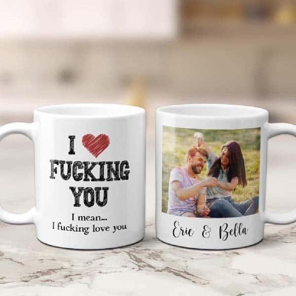photo gift ideas for boyfriend: Creative Funny Custom Mug