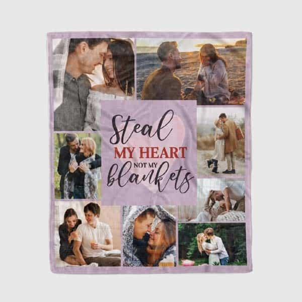 photo gift ideas for boyfriend: Custom Collage Blanket