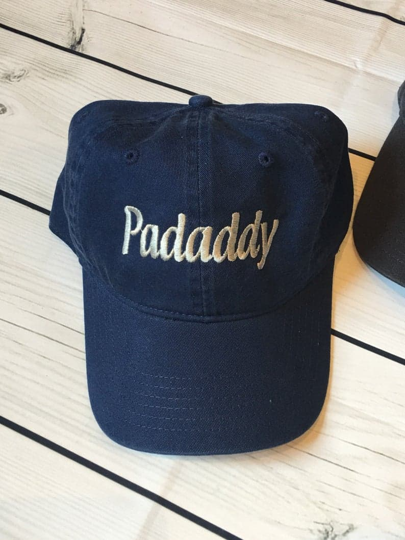 Custom Embroidered Baseball Cap personalized grandpa gift