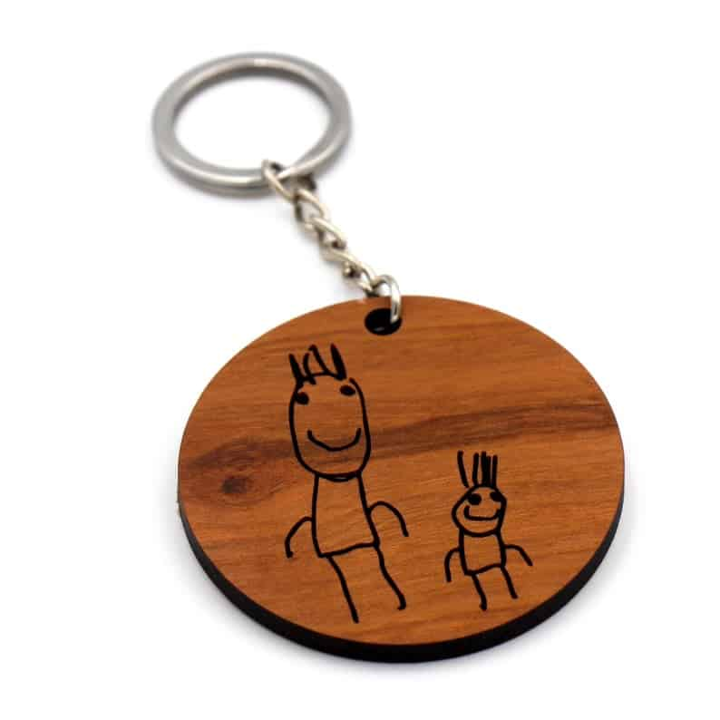 Engraved Keyring personalized grandpa gift