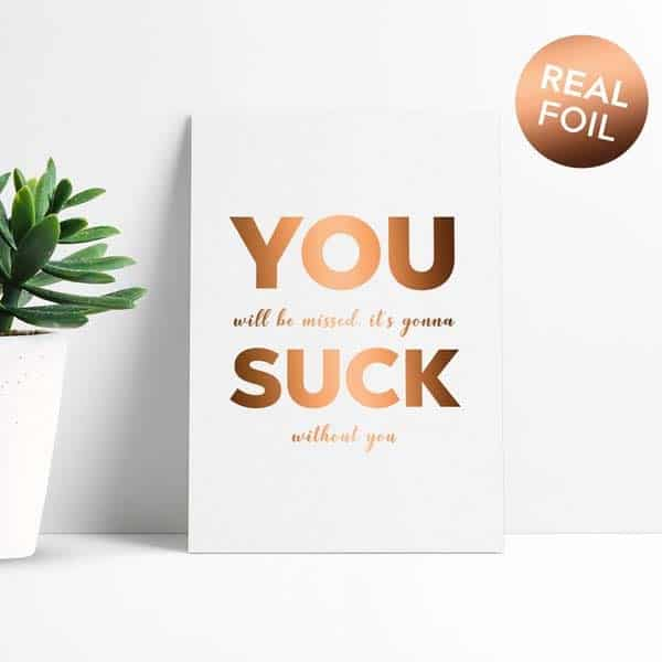 gifts for colleague leaving work: Funny Colleague Leaving Card