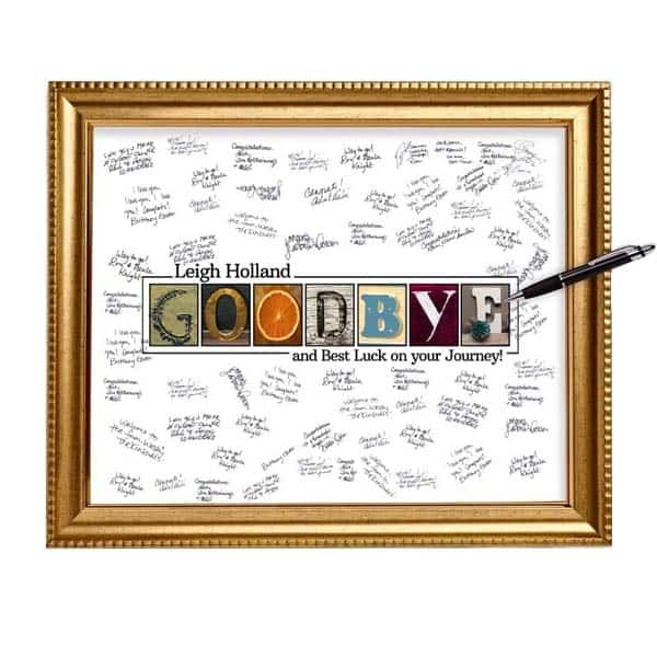 personalized going away gifts for coworkers: Goodbye Guestbook