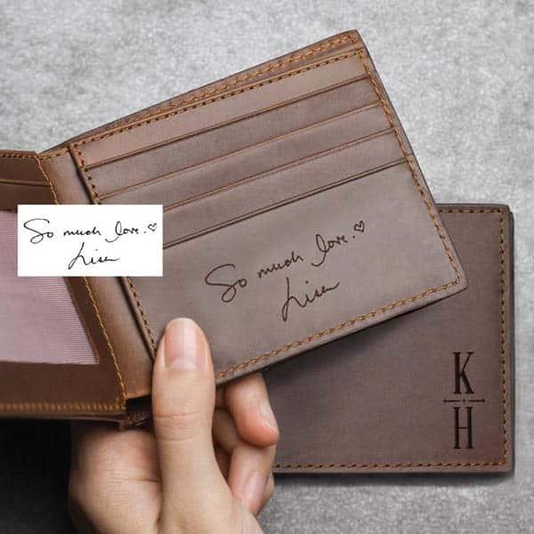 Custom Handwriting Wallet