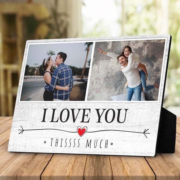boyfriend gift ideas: I Love You This Much Plaque