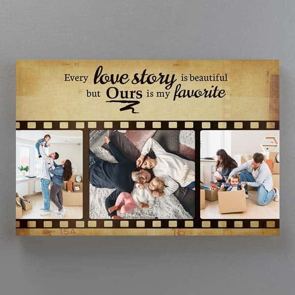 creative gifts for boyfriend: Love Story Photo Canvas