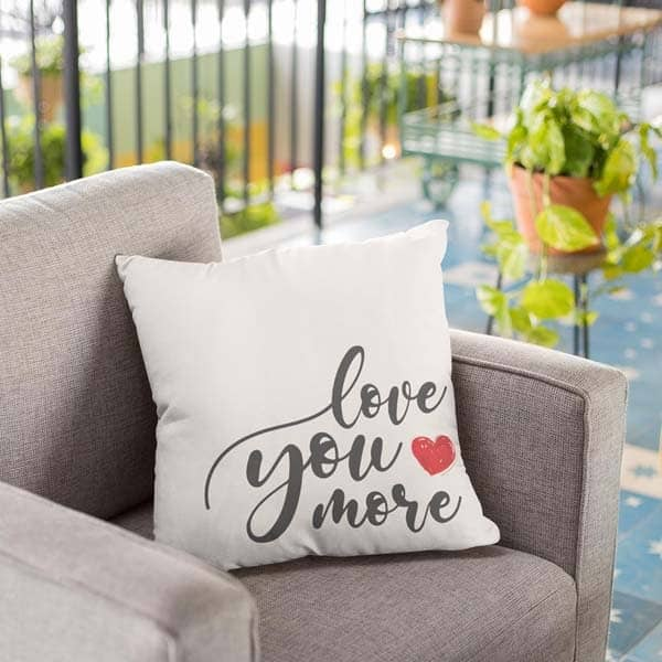 cute gifts for boyfriend: Love You More Pillow