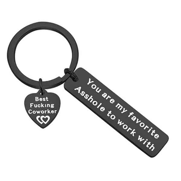 parting gifts: My Favorite To Work With Keychain