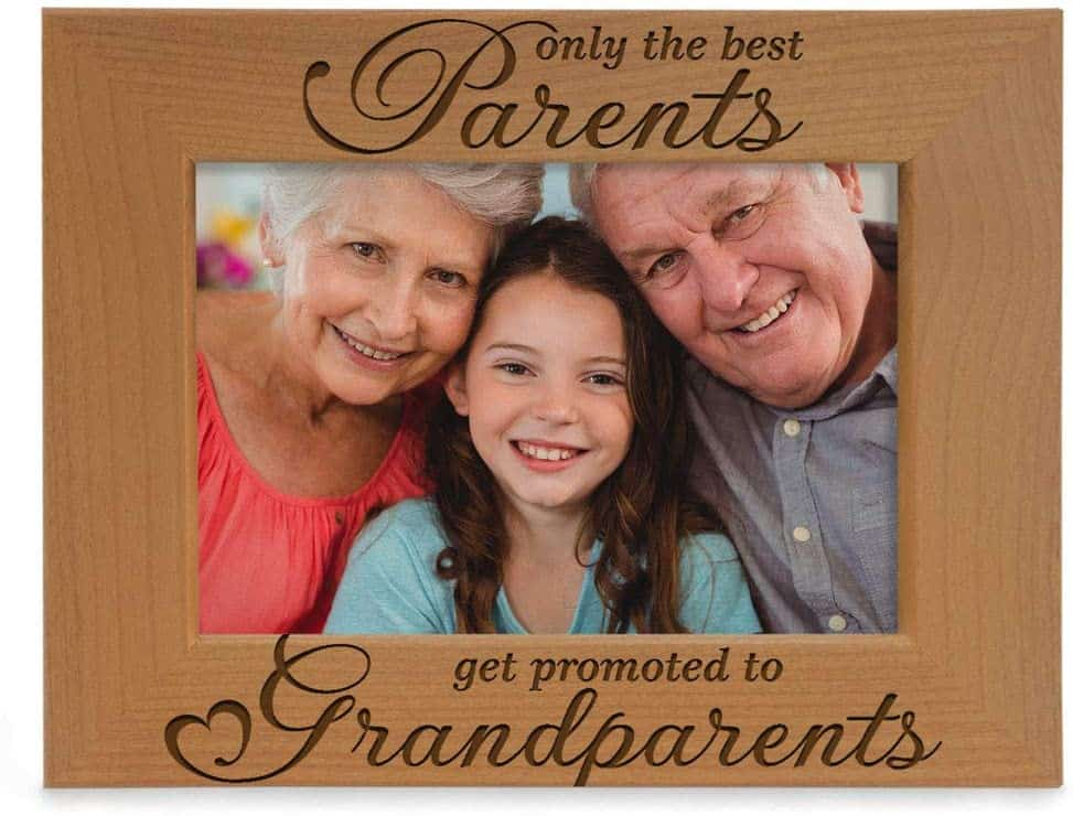 a picture frame with the quote only the best parents get promoted to grandparents