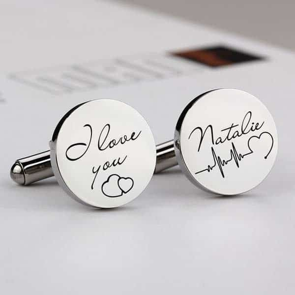 engraved gifts for boyfriends: Personalized Cufflinks