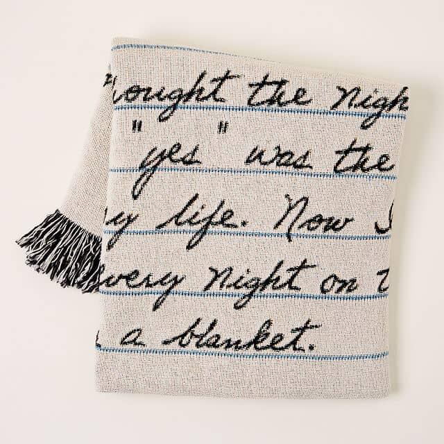 Personalized Hand Written Letter Blanket