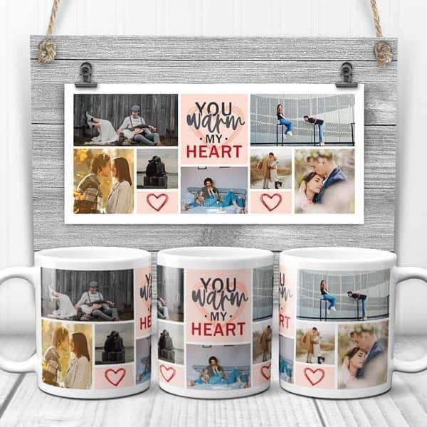 boyfriend gift ideas: You Warm My Heart Mug