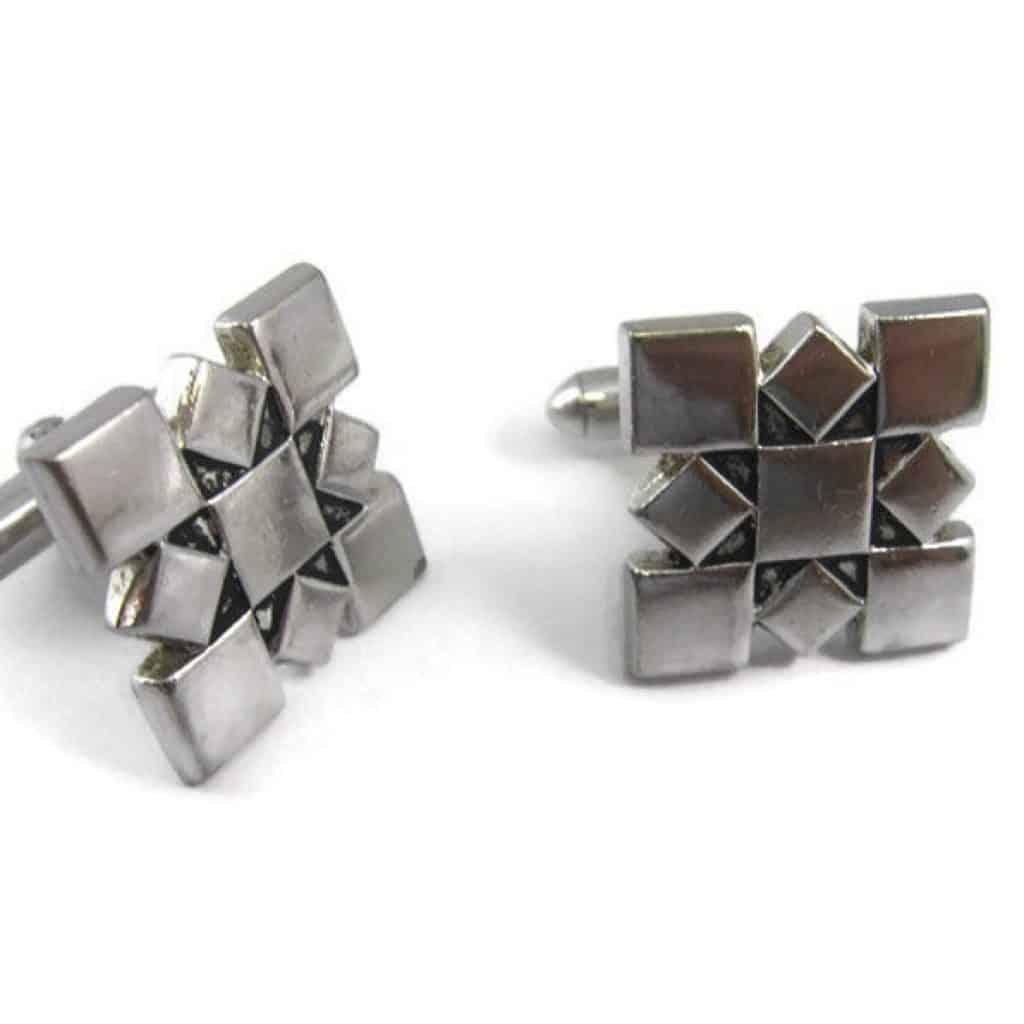 Vintage Square Diamond Shape Cufflinks - 60th anniversary gift