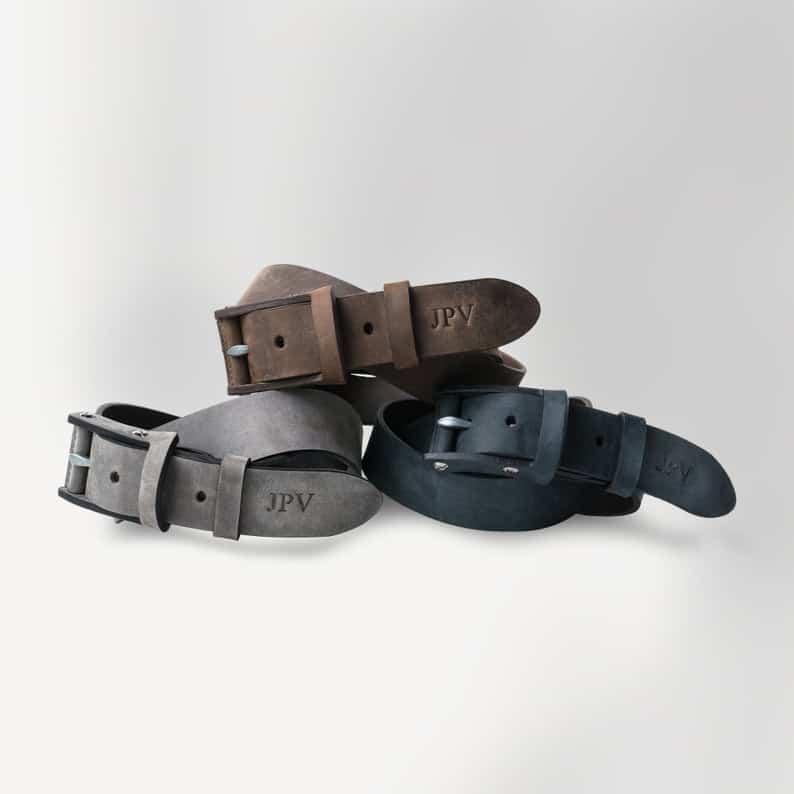 custom leather belt for him