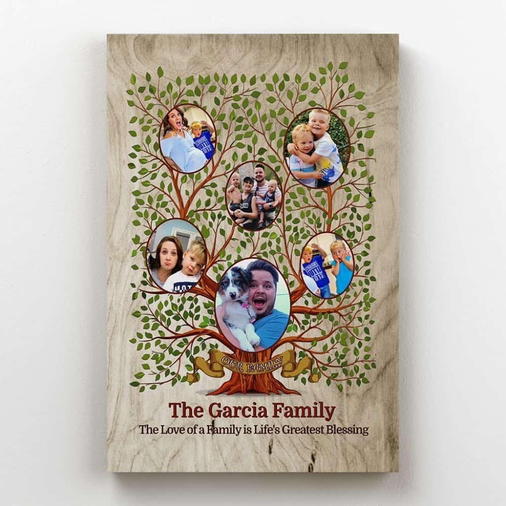 Family Tree Custom Photo Canvas – 6 Photos