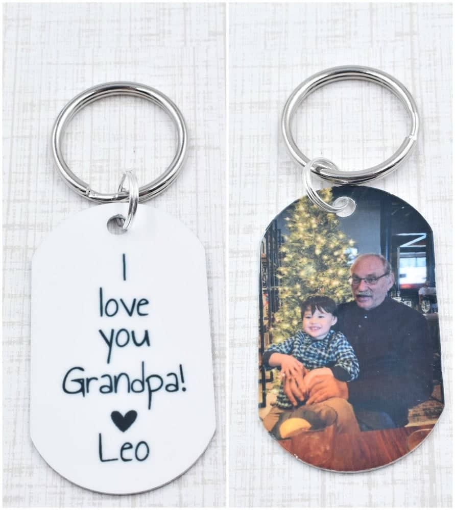 i love you grandpa key chain as a gift for a new grandfather