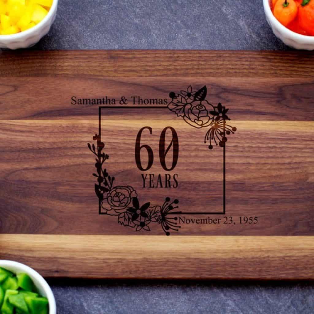60th Anniversary Cutting Board