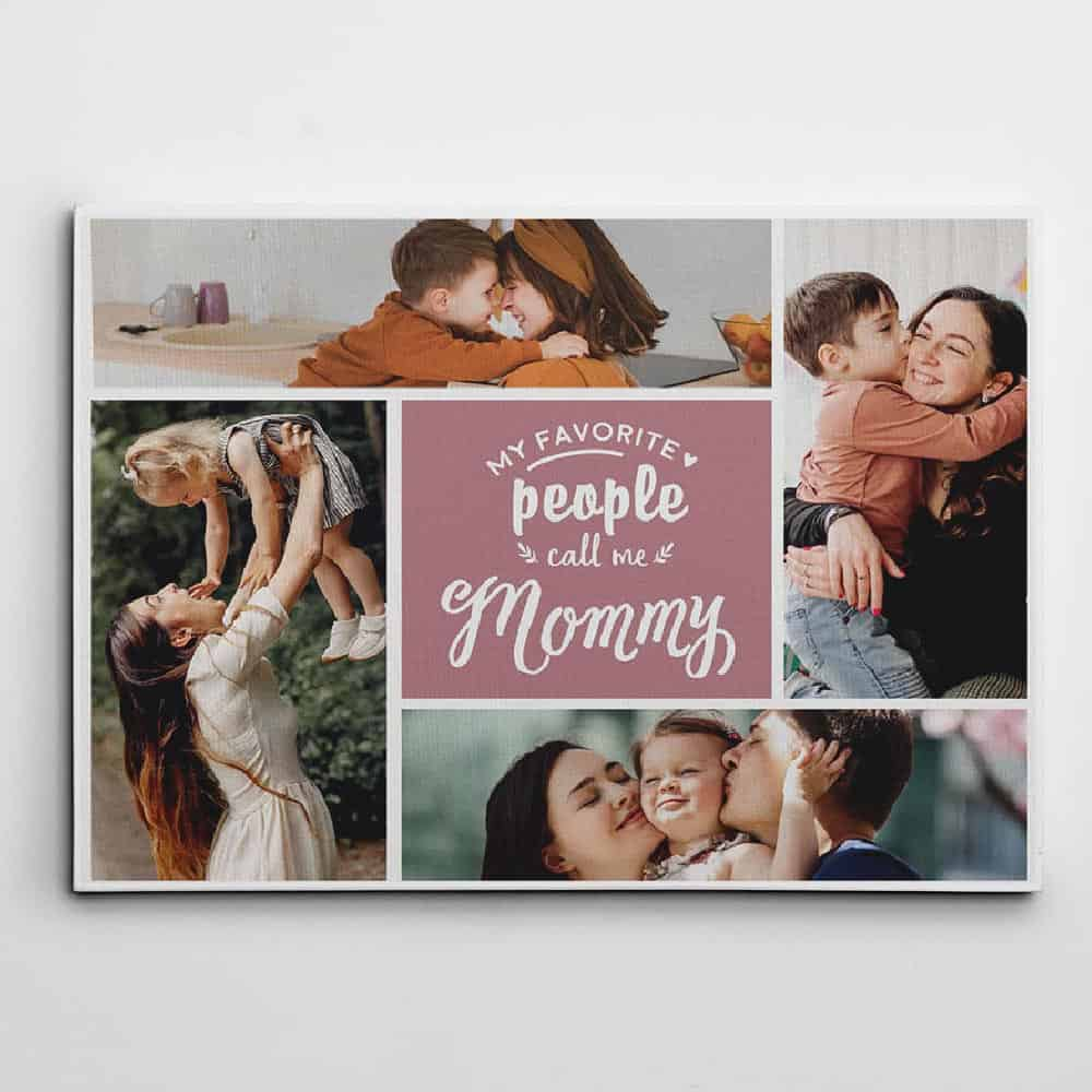 a photo collage canvas print birthday gift for mom