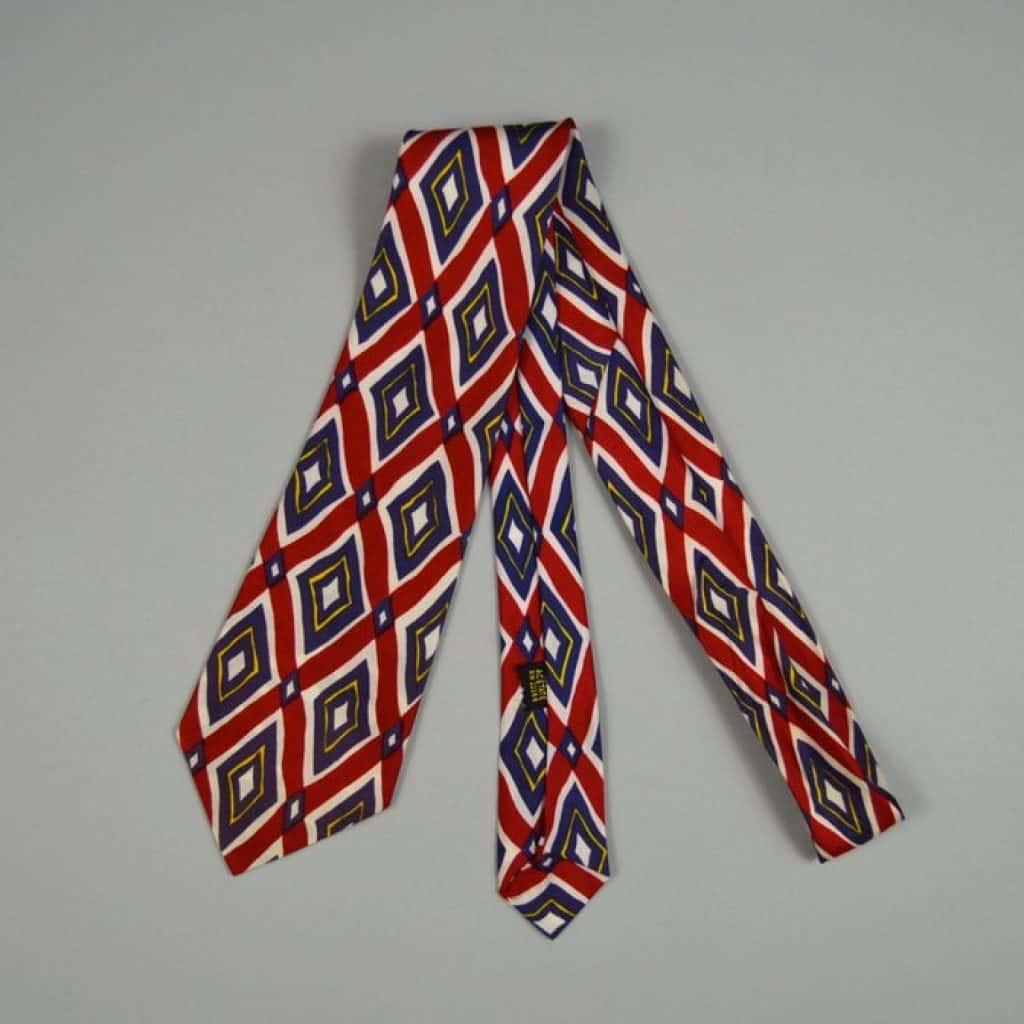 Vintage 1960s Diamond Necktie