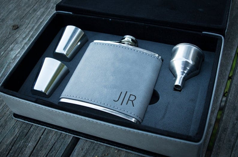 engraved gift for husband: personalized flask