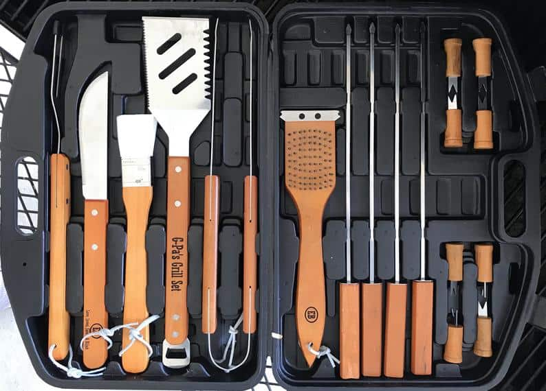 customized birthday gifts for him: personalized grilling tool set