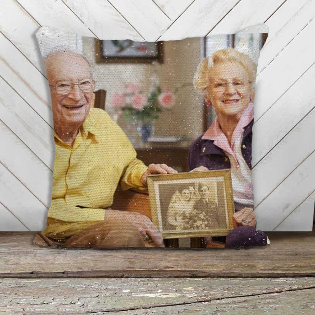 Personalized Anniversary Photo Pillow - 60th anniversary gift